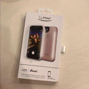 LuMee Duo Rose Gold iPhone Case